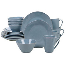 Certified International Harmony Solid Color - Teal 16-Pc. Dinnerware Set