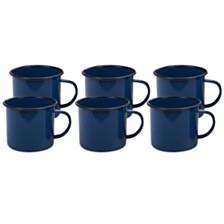 Certified International Enamelware - Cobalt Blue 6-Pc. Mug 26oz Set