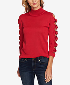 CeCe Bow-Sleeve Turtle Neck Sweater