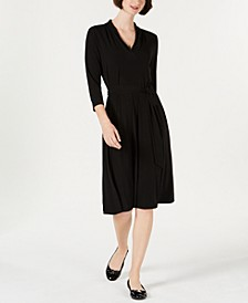 Petite Solid Midi Dress, Created for Macy's