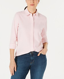 Charter Club Cotton Knit Shirt, Created for Macy's