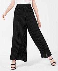 Bar III Pleated Woven Pants, Created for Macy's