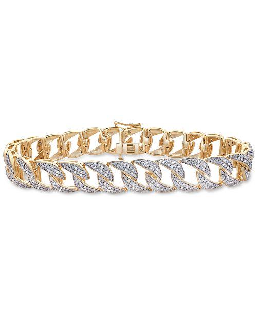 Diamond Link Bracelet 1 Ct T W