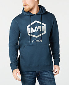 RVCA Men's VA Hex Wings Regular-Fit Logo Hoodie