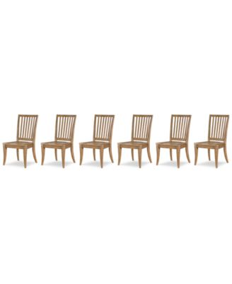 Rachael Ray Everyday Dining, 6-Pc. Set (6 Slat Back Side Chairs)