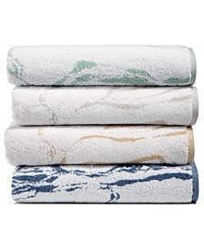 Turkish Cotton Fashion Marble Bath Towel Collection, Created for Macy's