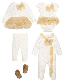 First Impressions Baby Girls Gold Tulle Holiday Mix & Match Separates, Created for Macy's