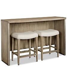 Esme Sofa Table Furniture, 3-Pc. Set (Table & 2 Stools)