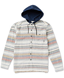 Billabong Men's Baja Regular-Fit Stripe Hooded Flannel Shirt