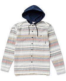 Billabong Men's Baja Regular-Fit Stripe Hooded Flannel Shirt