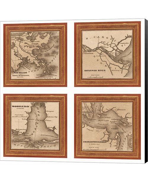 Metaverse Southern Harbors, 1860 by Fiona Demarco Canvas Art
