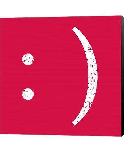 Metaverse Red Smiley by Veruca Salt Canvas Art