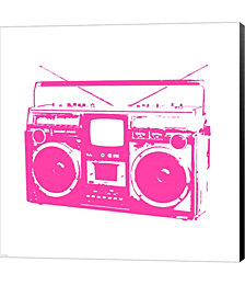 Pink Boom Box by Veruca Salt Canvas Art