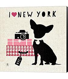NY Pooch by Studio Mousseau Canvas Art