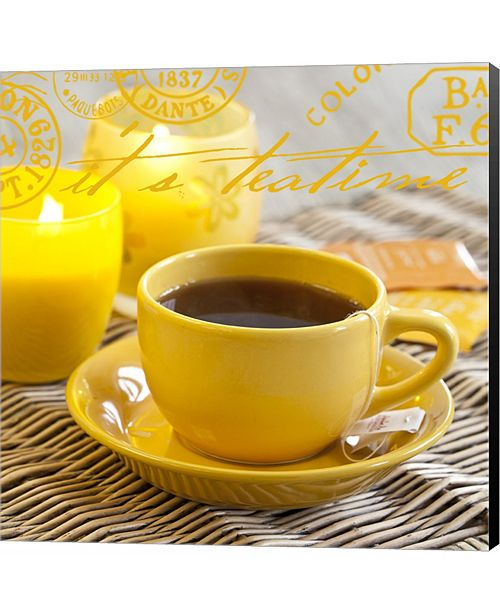 Metaverse Yellow Teatime by Andrea Haase Canvas Art