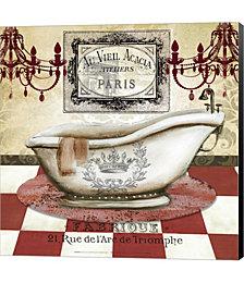 Red French Bath II by Jen Killeen Canvas Art