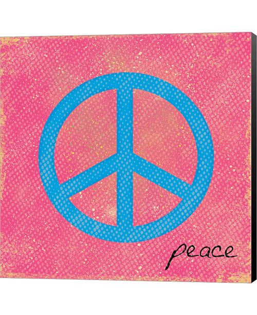 Metaverse Peace Blue and Pink by Louise Carey Canvas Art