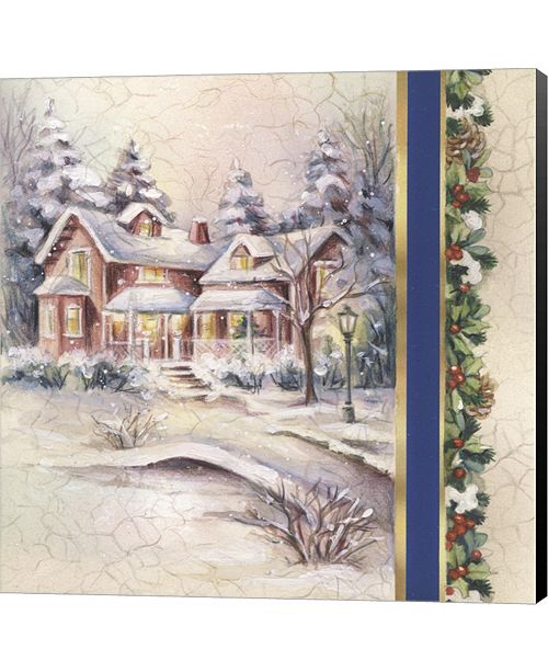 Metaverse Winter House With Snow and Mistletoe by DBK-Art Licensing Canvas Art