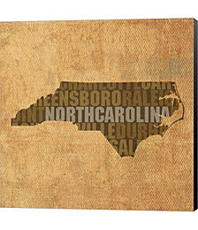 North Carolina State Words by David Bowman Canvas Art