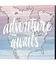 World Traveler Adventure Awaits by David Carter Brown Canvas Art