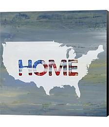 America Home II by Pamela J. Wingard Canvas Art