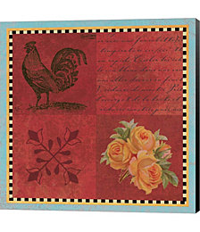 Rooster Quatre by Tammy Apple Canvas Art