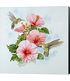 Pink Hibiscus by Art Brands Canvas Art