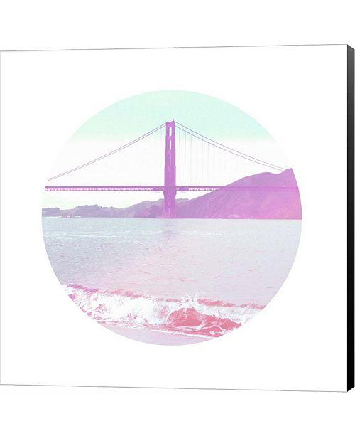 Metaverse Pastel Bridge by Linda Woods Canvas Art