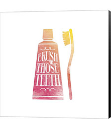 Brush Those Teeth Watercolor Silhouette by Color Me Happy Canvas Art