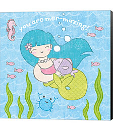 Magical Mermaid II by Moira Hershey Canvas Art