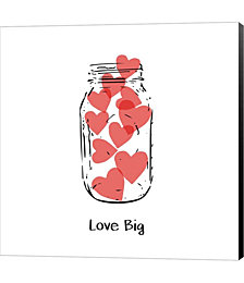 Love Big by Linda Woods Canvas Art