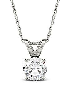 Moissanite Solitaire Pendant (1-9/10 ct. t.w. Diamond Equivalent) in 14k White Gold