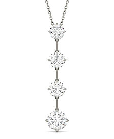 Moissanite Drop Pendant (2-1/8 ct. tw.) in 14k White Gold