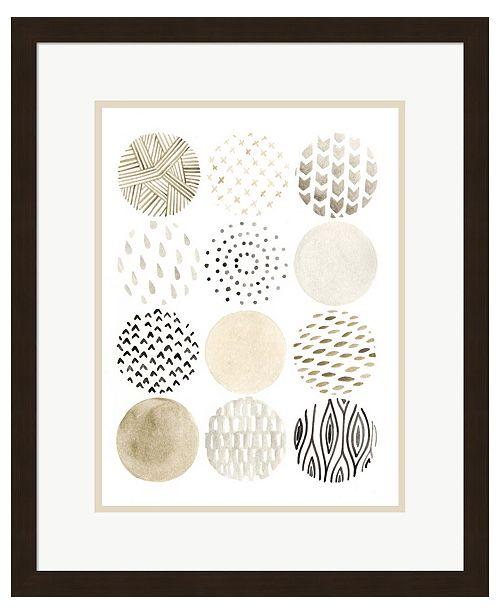 Metaverse Neutral Pattern Pla1 by June Erica Vess Framed Art