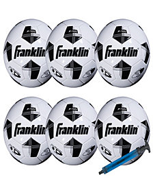 Franklin Sports Size 3 Comp 100 6 Pack Of Soccerballs & Pump