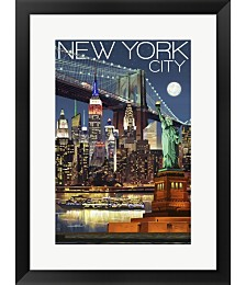 New York City 1 by Lantern Press Framed Art