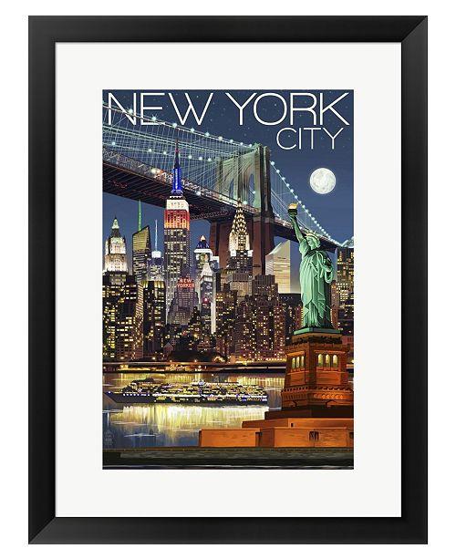 Metaverse New York City 1 by Lantern Press Framed Art