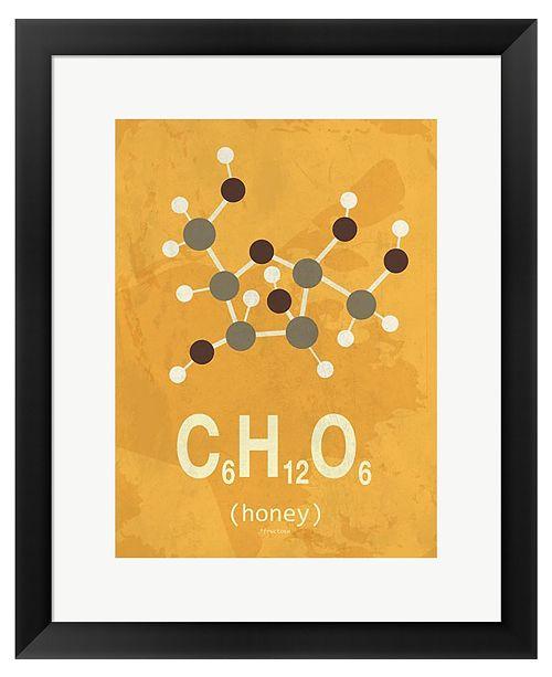 Metaverse Molecule Honey by TypeLike Framed Art