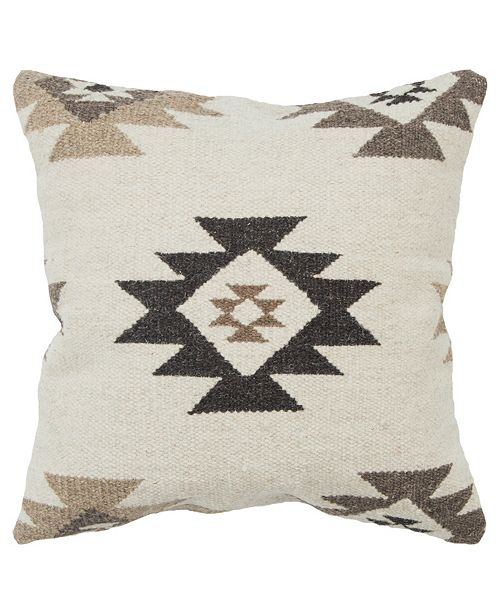 """Rizzy Home 22"""" x 22"""" Southwest Poly Filled Pillow"""