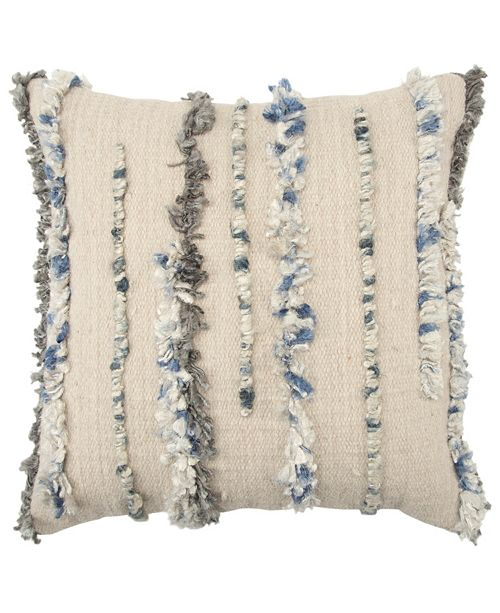 """Rizzy Home 20"""" x 20"""" Vertical Stripe Pillow Collection"""