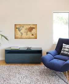 "iCanvas ""Map of The World III"" by Michael Tompsett Gallery-Wrapped Canvas Print"