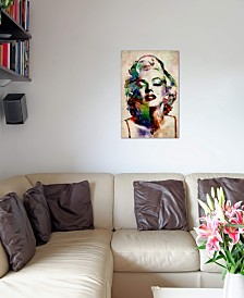 """iCanvas """"Watercolor Marilyn Monroe"""" by Michael Tompsett Gallery-Wrapped Canvas Print"""