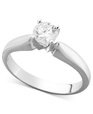 Diamond Round Solitaire Engagement Ring in 14k White Gold (5/8 ct. t.w.)