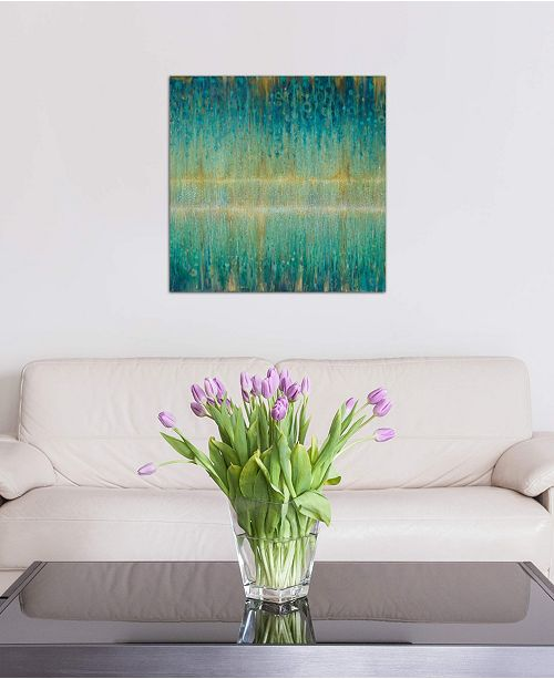 "iCanvas ""Rain Abstract I"" by Danhui Nai Gallery-Wrapped Canvas Print (18 x 18 x 0.75)"