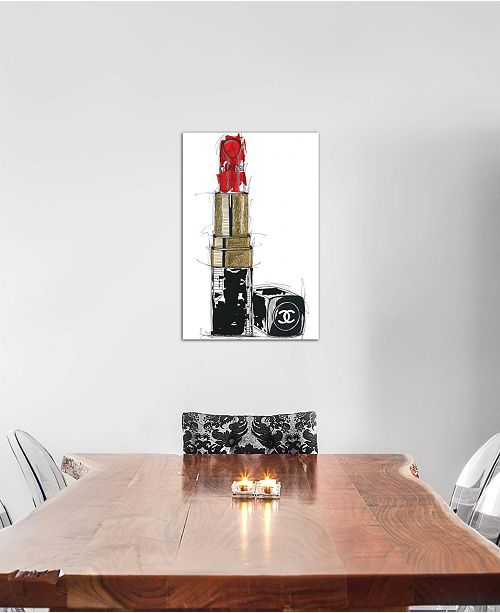 "iCanvas ""Chanel Rouge"" by Frank Banda Gallery-Wrapped Canvas Print (26 x 18 x 0.75)"