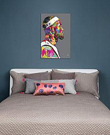 "iCanvas ""LeBron"" by TECHNODROME1 Gallery-Wrapped Canvas Print (40 x 26 x 0.75)"