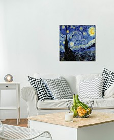"iCanvas ""The Starry Night"" by Vincent van Gogh Gallery-Wrapped Canvas Print (18 x 18 x 0.75)"