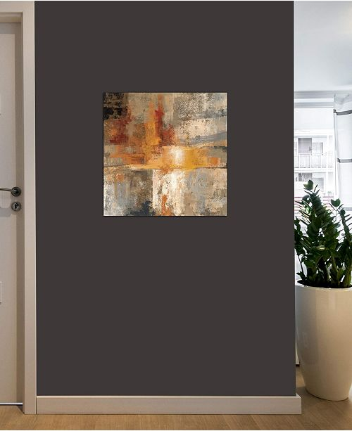 """iCanvas """"Silver and Amber Crop """" by Silvia Vassileva Gallery-Wrapped Canvas Print (26 x 26 x 0.75)"""
