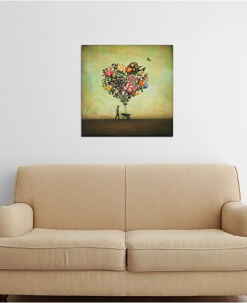 """iCanvas """"Big Heart Botany"""" by Duy Huynh Gallery-Wrapped Canvas Print (26 x 26 x 0.75)"""
