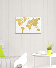 "iCanvas ""Gold Map"" by Natasha Westcoat Gallery-Wrapped Canvas Print (18 x 26 x 0.75)"